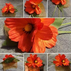 Tropical Red/Orange Haircomb